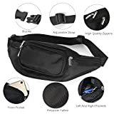 Men's Waterproof Black Fanny Pack Adjustable Buckle