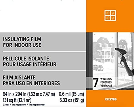 Indoor Crystal Clear Shrink Film HOME Insulator Window Kit (1 Patio Door (80 X 86 0.6 MIL)) - - Amazon.com