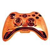 Xbox 360 Controller Shell - Replacement Buttons Thumbsticks Custom Cover Case Kit for Xbox 360 Wireless Controller - Bright Orange