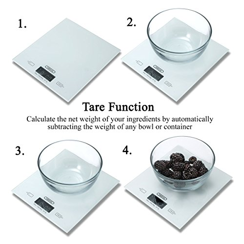 Amazon.com: Farberware Professional Glass Top Digital Kitchen Scale, White: Kitchen & Dining