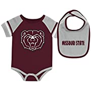 Colosseum Missouri State Bears Baby Bodysuit and Bib Set Infant Jersey (3-6 M)