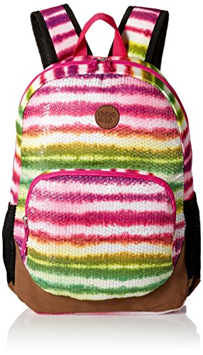 Sequin Tie Dye - Limited Too Big Girls Rainbow Tie Dye with Sequins Backpack, Multi, One Size