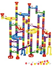 WTOR Toys Marble Run 216Pcs Tall Maze Learning Adventure Marbles Race Game Learning Railway Construction Maze Boys Girls Toys Game