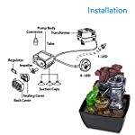 SereneLife 3-Tier Desktop Electric Water Fountain Decor w/ LED - Indoor Outdoor Portable Tabletop Decorative Zen Meditation Waterfall Kit Includes Submersible Pump & 12V Power Adapter - SLTWF54LED