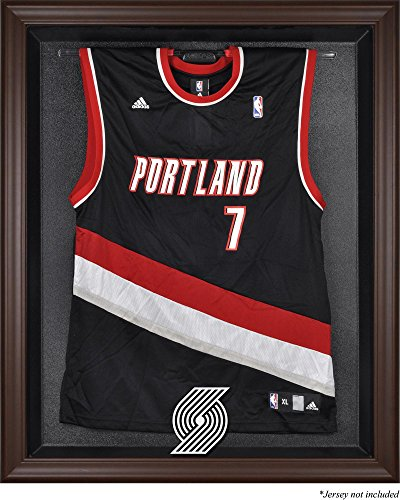 Sports Memorabilia Portland Trail Blazers Brown Framed Jersey Display Case - Basketball Jersey Logo Display Cases - Logo Case Display Browns