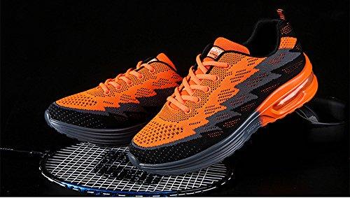 Chaussures De Sport Occasionnels Des Femmes Des Hommes Athlétiques Respirant Mode Des Baskets De Course Par Jiye Orange