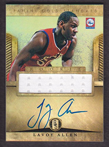 - 2012-13 Panini Gold Standard Basketball #278 Lavoy Allen RC Auto Jersey Philadelphia 76ers