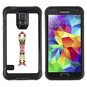 Paccase / Suave TPU GEL Caso Carcasa de Protección Funda para - Man Skeleton Hat Shoes Art - Samsung Galaxy S5 SM-G900