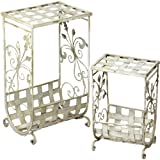 Essential Decor Entrada Collection 2-Piece Metal Magazine Table