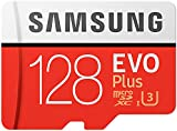 Samsung MB-MC128GA/AMZ 128 GB 100 MB/s Class 10 U3 Memory Evo Plus MicroSD card with Adapter - Amazon Exclusive Packaging - White/red