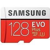 Samsung MB-MC128GA/EU EVO Plus Scheda MicroSD da 128 GB, UHS-I, Classe U3, fino a 80 MB/s di Lettura, 20 MB/s di Scrittura, Adattatore SD Incluso