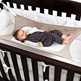 Kaimo Baby Hammock for Crib - Safe Transition to Crib, Fits Mini Crib, Pack and Play, and Regular Crib Sizes, Hypoallergenic Mesh No Overstretching, Durability and Comfort Bed for Your Newborn (Grey)