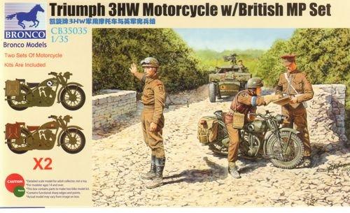Unbekannt Bronco Models CB35035 - Figuren Triumph 3HW Motocycle MP Figure Set