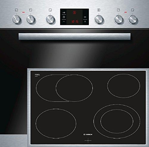 Bosch HND32PS55 Backofen-Kochfeld-Kombination / A / 66 L / 3D Heißluft Plus / 1 Zweikreis-Kochzone / edelstahl