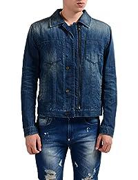 Denim Men's Lined Button Up Zip Up Jacket US S IT 48