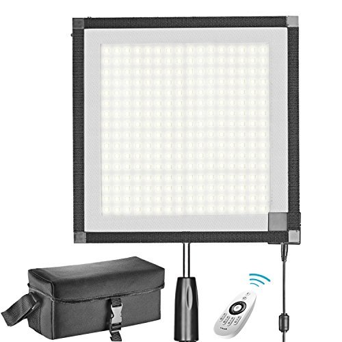 Neewer Foldable LED Light Panel Mat on Frabic 5600K 256 LED Lighting Panel with 2.4G 4-Channel Remote Control, Diffuser Cloth, Hand Grip and Portable Bag for Potrait Video Outdoor Photography by Neewer