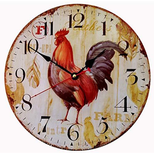 Evursua Decorative Kitchen Wall Clock Farmhouse (12 inch)