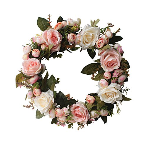 (Florist Flower Wreath Rose Garland for Home Wall Wedding Decoration)