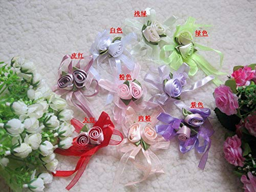 Dalab DIY Handmade Ribbon Flower Ribbon Flower Two-Color bandeaus Candy Box Decoration Flower