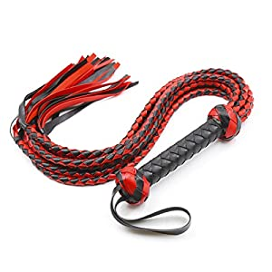 HOT TIME Bull Whip 8 Soft Leather and Suede Braided Tails Equestrian Horse Sport Whips With 2 Turkhead Knots