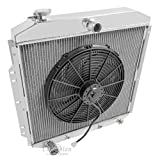 """3 Row Radiator, All Aluminum & 16"""" Fan for 1953-1956 Ford Trucks. Engine applications: V6, V8 (Doesn't work on Flat Head). Radiator Manufactured by Champion Cooling Systems, Part#5356."""