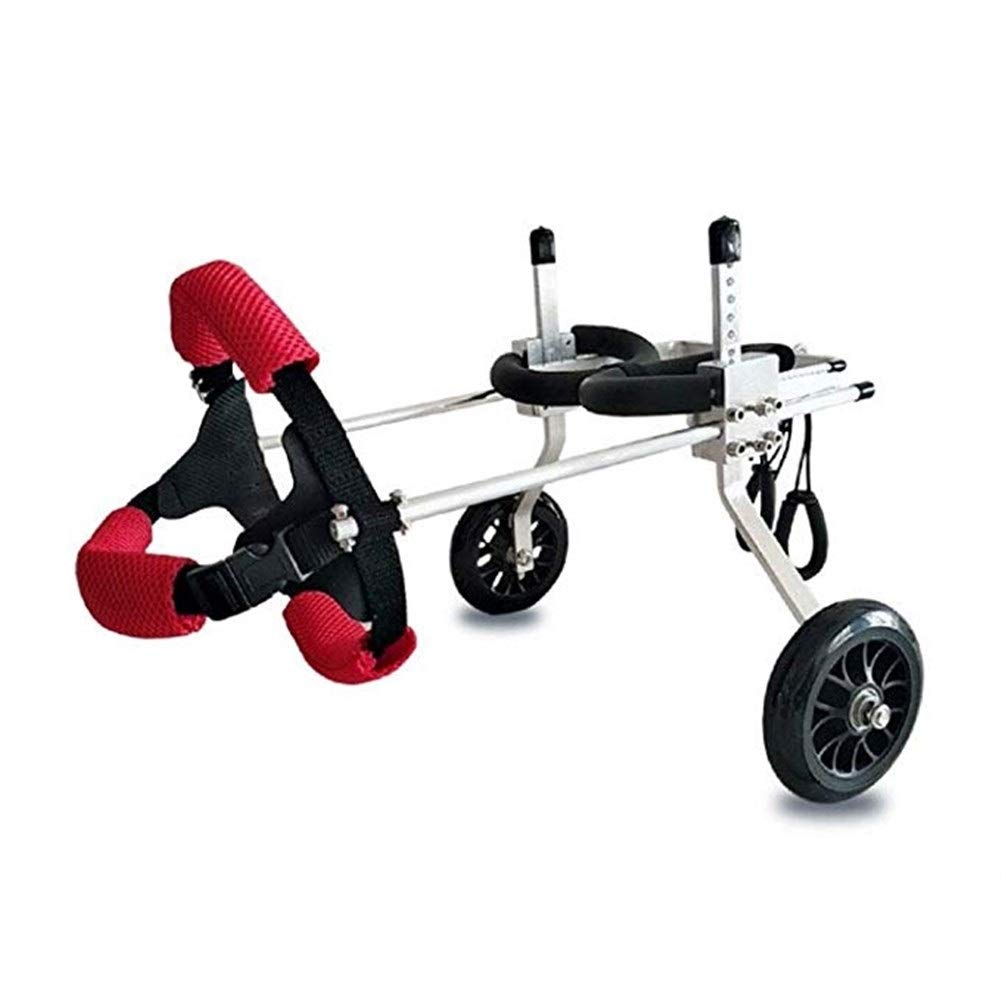 LMCWLY Pet Wheelchair,Adjustable Dog Wheelchair/Disabled Dog Assisted Walking/Rear Leg Sports Car (Size : XXS) by LMCWLY