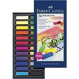Creative Studio Soft Pastel Crayons Half Length 24/Pkg-