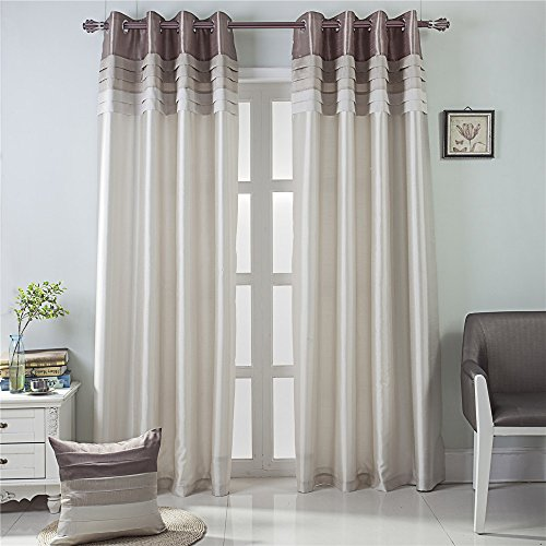 GYROHOME Fully Lined Luxury Faux Silk Blackout Curtains Thermal Insulated Room Darkening Engery Saving Drape Noise Reducing No Formaldehyde for Living Room Bedroom