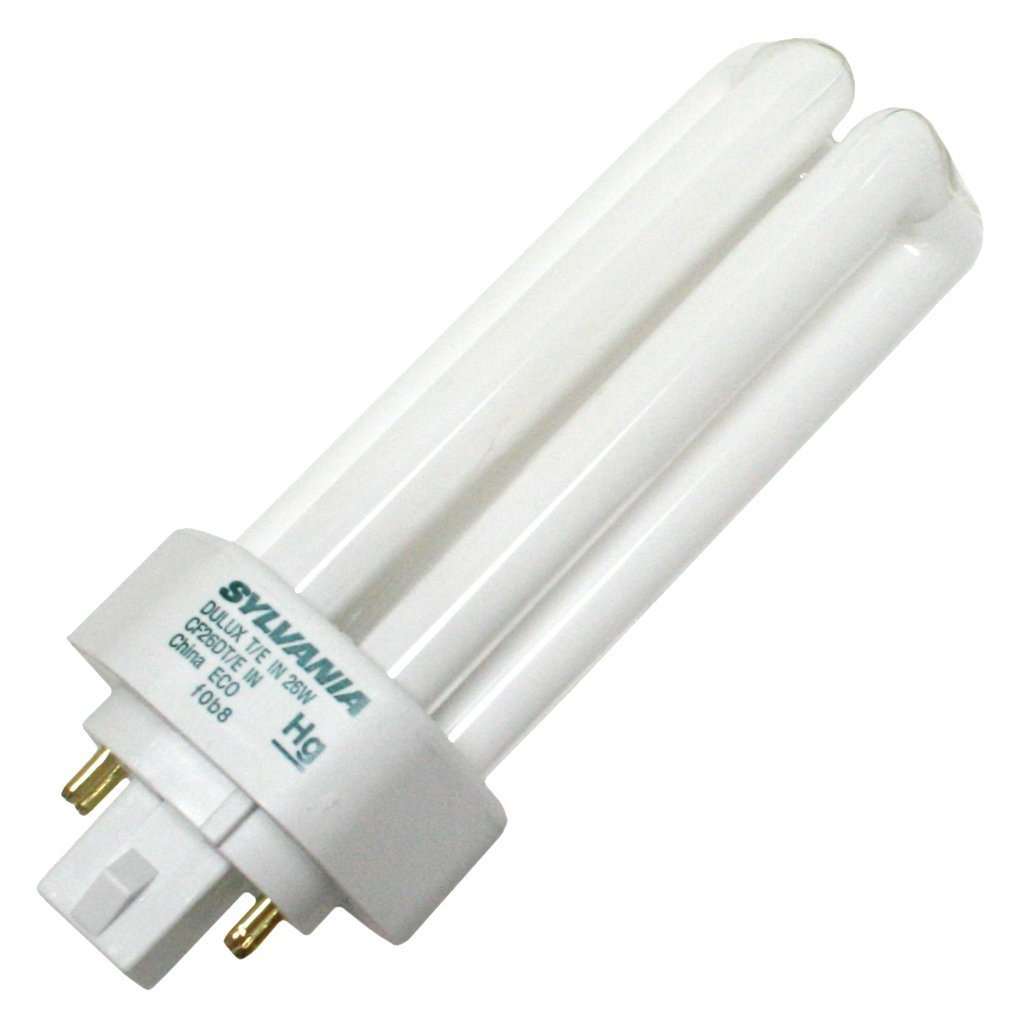 (25 Pack) Sylvania 20879 CF26DT/E/IN/827/ECO 26-Watt 2700K 4-Pin Triple Tube Compact Fluorescent Lamp