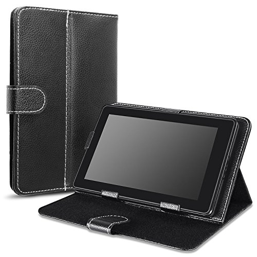 Insten Stand Leather Case Cover Compatible With iPad Mini 3 / Samsung Galaxy Tab 3 7.0, Black