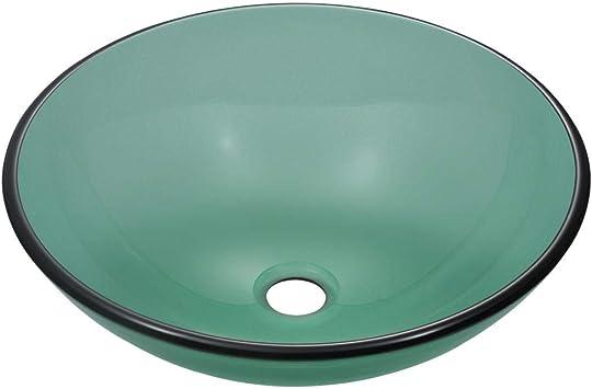 601 Emerald Coloured Glass Vessel Sink Vessel Sinks For Bathrooms
