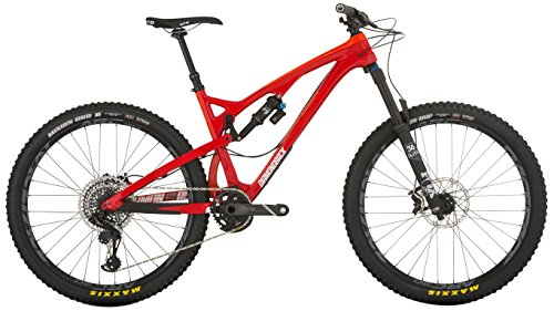 Diamondback Bicycles Release 5 C Carbon Full Suspension Mountain Bike, 19'/Large, Red