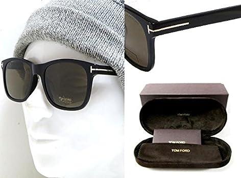 Authentic Tom Ford FT0595-F  Eric-02 01J Shiny Black Sunglasses