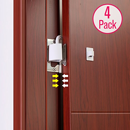 ng 4pack Plastic Door Stoppers Finger Pinch Guards ()