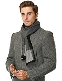 Brushed Warm Soft Cashmere Feel Men's Scarf Winter