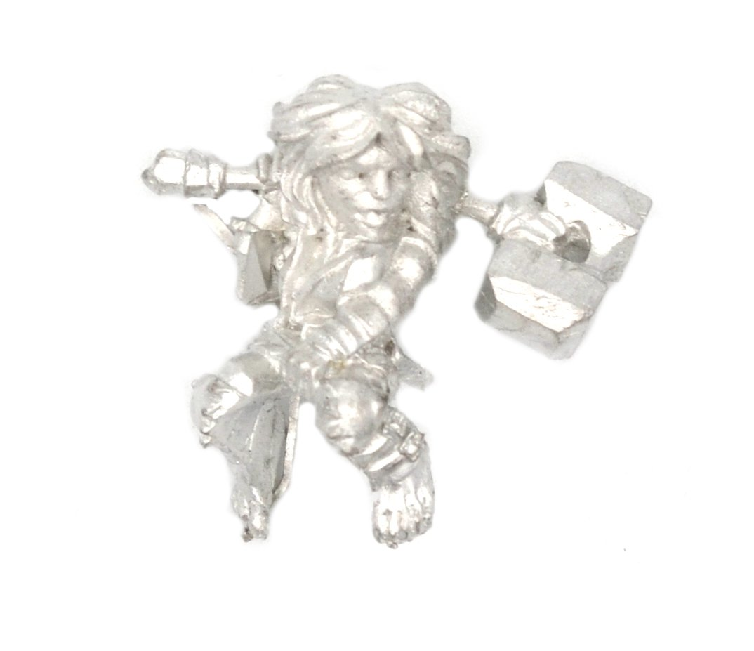 Made in USA Stonehaven Halfling Berserker Rider Miniature Figure for 28mm Table Top Wargames