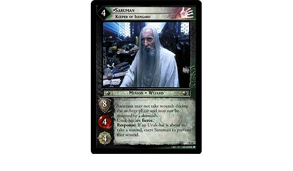LOTR TCG Saruman/'s Ambition 1C133 Fellowship of the Ring FOTR MINT FOIL