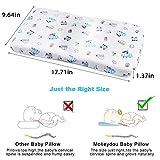 Baby Pillow for Newborn Prevent Flat Head, Mokeydou