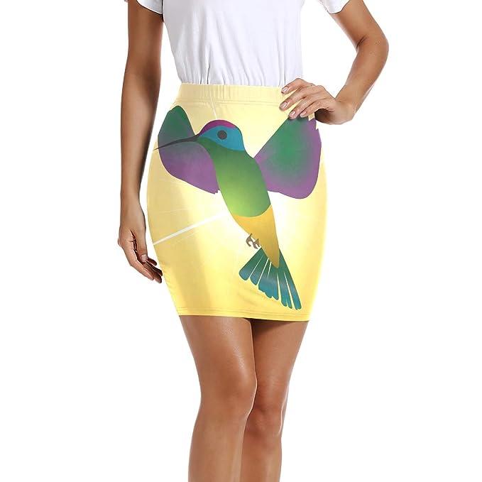LUPINZ Mini Falda Ajustada elástica para Mujer con diseño de ...