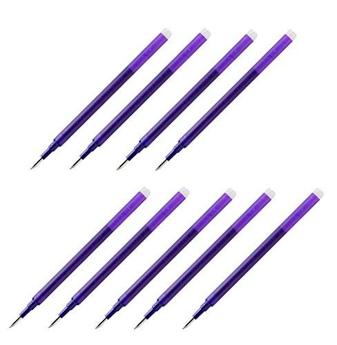 Extra Fine Purple Ink (Pilot Gel Ink Refills for FriXion Erasable Gel Ink Pen, Extra Fine Point 0.5mm, Violet Ink, Pack of 9)