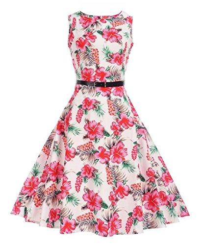 Coolred-femmes Audrey Hepburn Années 1950 Bat Son Rétro Floral Rockailly As4 Robe