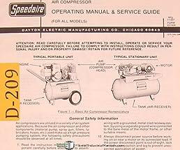 dayton air compressor, all models, operations and service manual  dayton air compressor wiring diagram #8