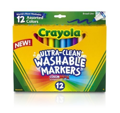 Crayola 12 Ct Ultra-Clean Washable