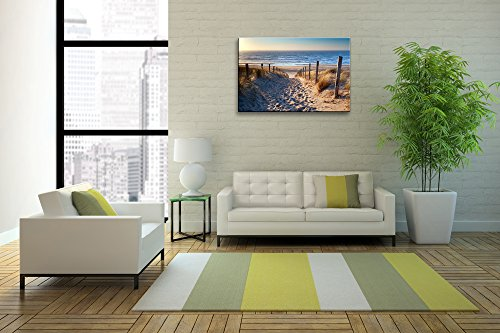 Yixuanwall art-canvas Prints,Footprints beach Wall Art oil Paintings Printed Pictures Stretched for Home Decoration hs0017