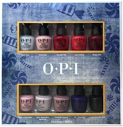 OPI Nail Lacquer - Holiday Mini 10 Pack - 3.75 mL / 0.125 oz each ...
