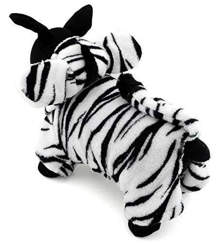 Ranphy Christmas Fancy Jumpsuit Dress Small Pet Clothes for Dogs Cats Fleece Zebra Costume Hooded Coat Pajamas (Couples Caveman Costumes)