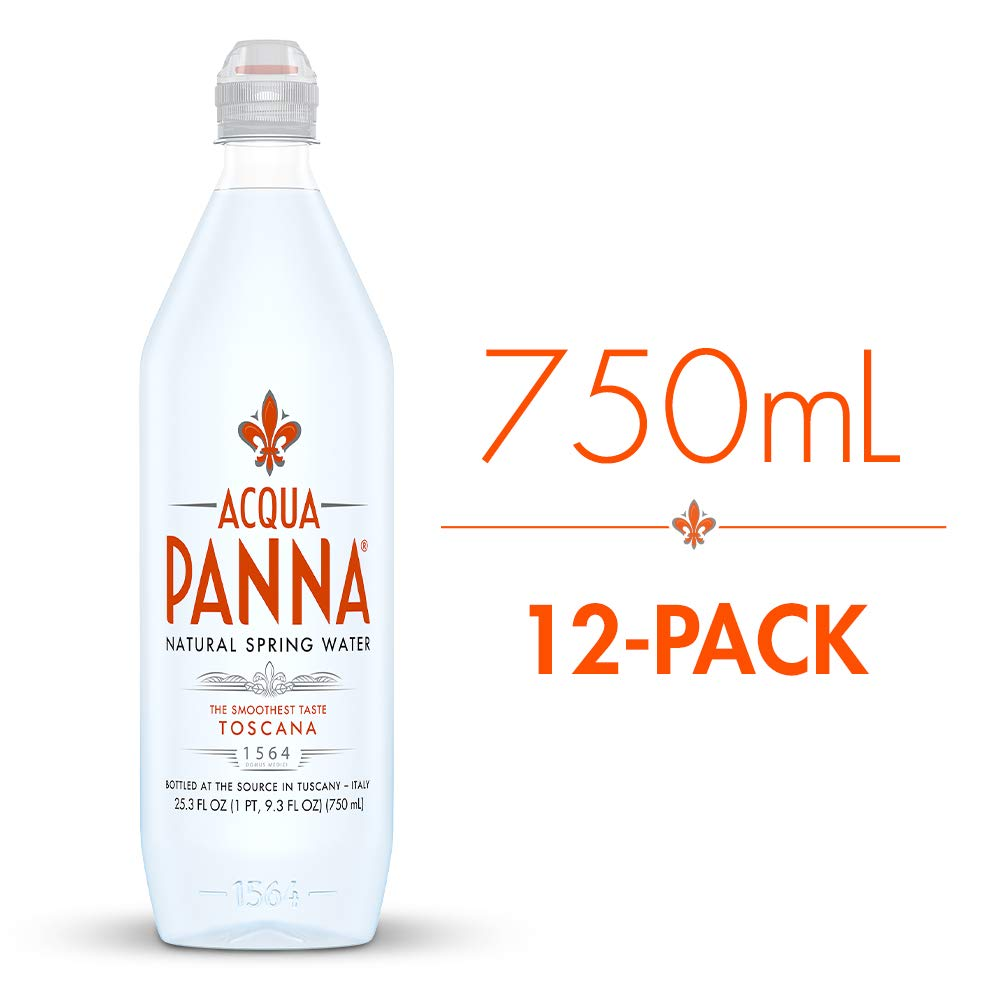 Acqua Panna Natural Spring Water, 25.3 Fl Oz. Plastic Bottles (Pack of 12)