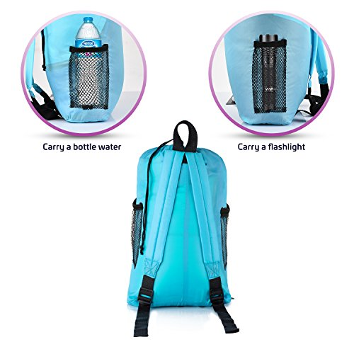 Kids Or Childrens Junior Sleeping Bags Polyester Ultralight Bag For Camping Hiking Withstands Extreme Temp Of 32 60F Includes Backpack