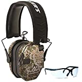 Walkers-Game-Ear-Razor-Slim-Electronic-Muff-Kryptek-Camo-BUNDLED-with-Clear-Lens-Shooting-Glasses