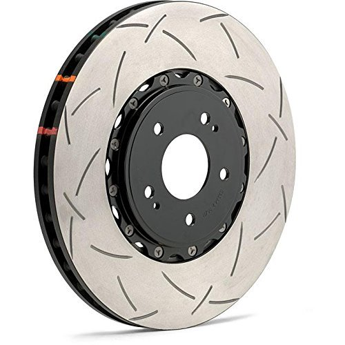 () 5000 Series 2-Piece Slotted Disc Brake Rotor with Black Hat, Front - DBA 52320BLKS